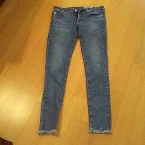 AG ADRIANO GOLDSCHMIED SUPER SKINNY ANKLE 27R JEAN